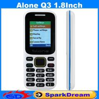 Alone Q3 Phone with Quad Band Dual SIM Card Bluetooth Flashlight MP3 MP4 FM Camera1.8 inch CheapPhone (Can add Russian Keyboard)