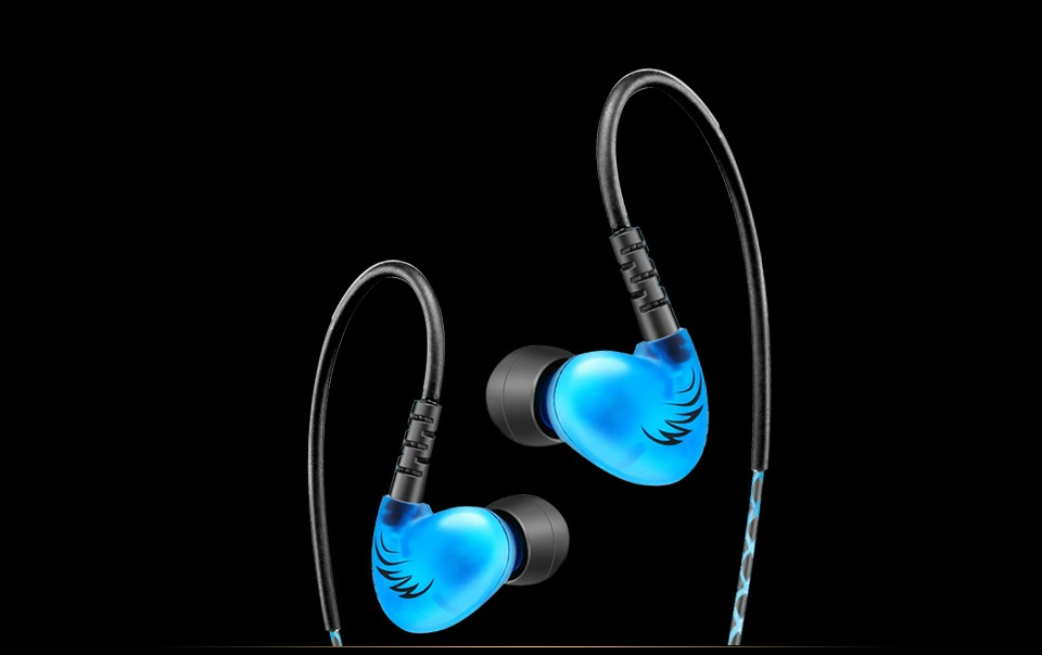 QKZ C6 Audio Sport-Fi Earphone Noise Isolating In-Ear Headphones With Memory Wire Fone De Ouvido Auriculares dj Headset 3 colors