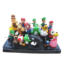 "Super Mario Bros 1set 1""-2.5"" yoshi dinosaur Figure toy Super mario yoshi action figure PVC retai(China (Mainland))"