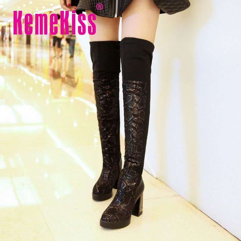 women pointed toe high heel over knee boot zipper winter warm long boot sexy lady fashion footwear heels shoes P21363 size 34-39<br><br>Aliexpress
