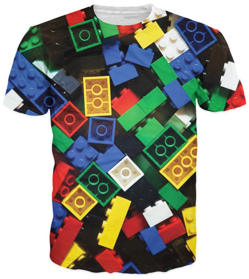 Summer Style Lego Bricks T-Shirt super popular children's toy 3d print t shirt camisetas for Unisex Women Men Plus Size S-XXXL(China (Mainland))