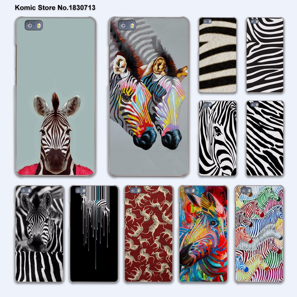 color Painting zebra animal hard transparent phone Cover Case for huawei P9 P8 Lite P9Plus P7 Mate 9 Mate S 8 7(China (Mainland))