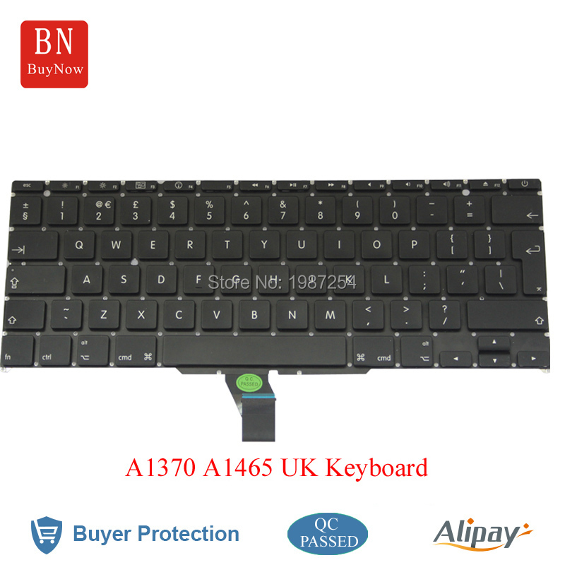 5PCS/Lot New UK Keyboard For Apple Macbook Air 11 A1370 A1465 UK English Keyboard<br><br>Aliexpress