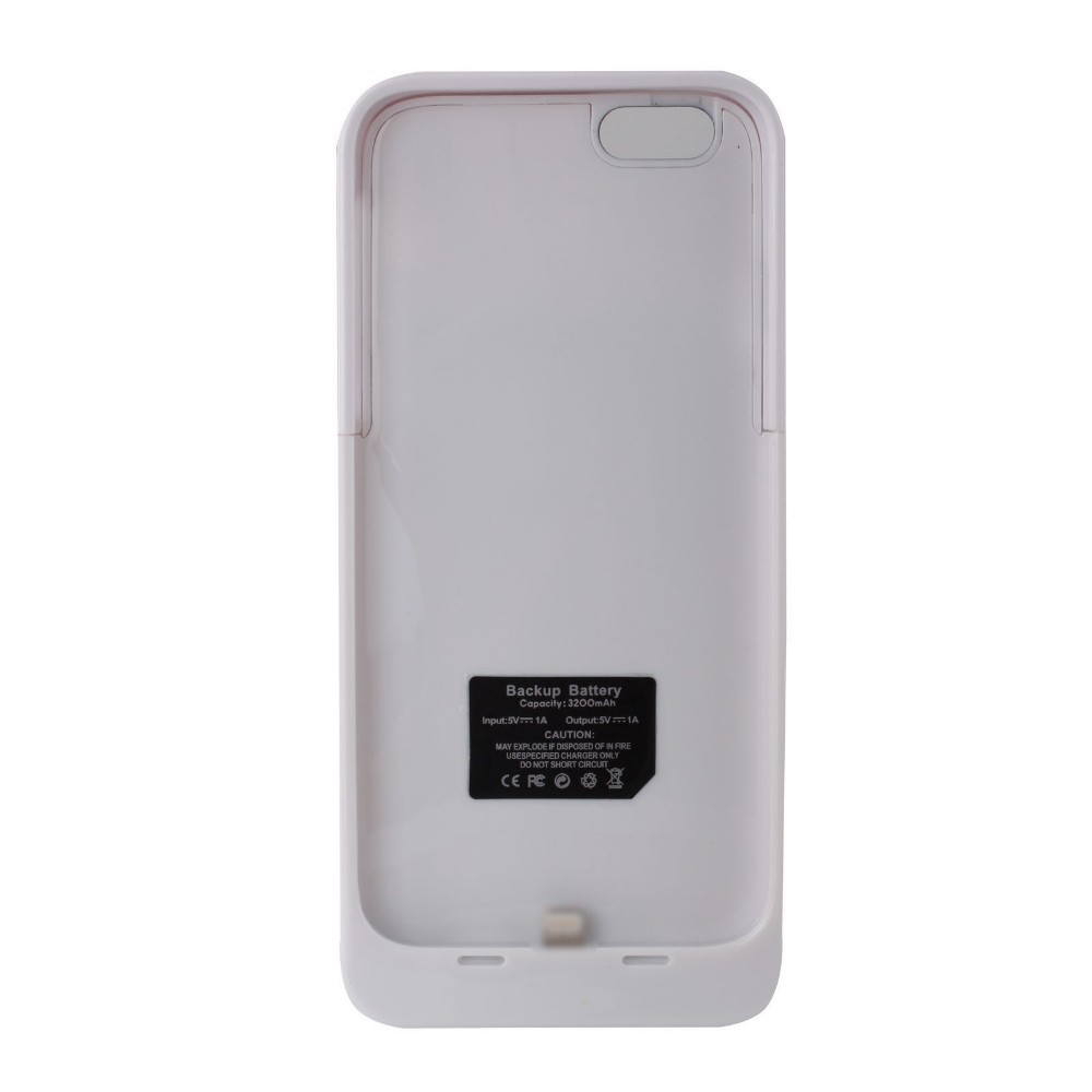3200mAh Rechargeable Backup External Battery Charger Power Bank Powerbank Case Cover for iPhone 6(China (Mainland))
