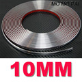 2017 hot 10mm 1cm x 15 Meters Car Styling Moulding Strip Chrome Trim Adhesive car decoration
