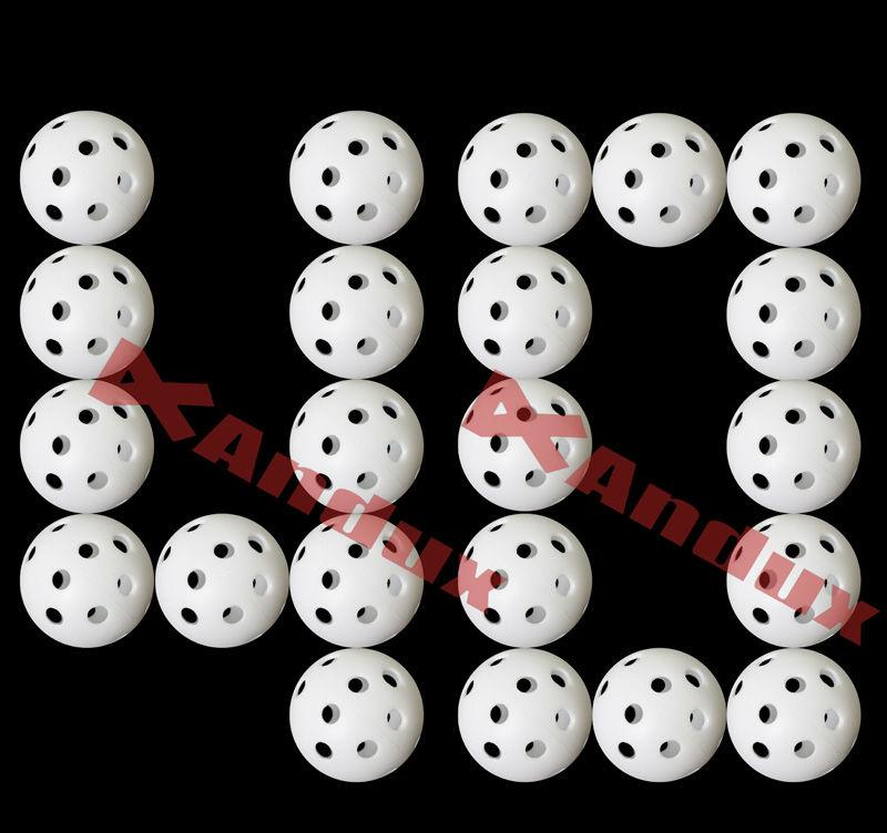 40pcs golf ball plastic practice balls airflow ball golf swing trainer aids white(China (Mainland))