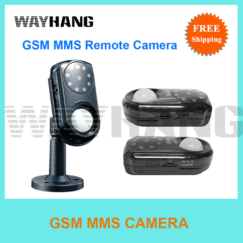 free shipping newest mms alarm gsm security camera mini. Black Bedroom Furniture Sets. Home Design Ideas