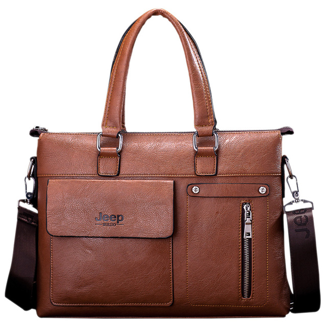 Новый известный дизайнер джип известных брендов мужчины портфель бизнес кожаный сумки ...