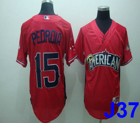 2010 All Star Boston Red Sox #15 Dustin Pedroia red cool base Jersey M,L,XL,XXL,XXL sports jersey cheap baseball jersey