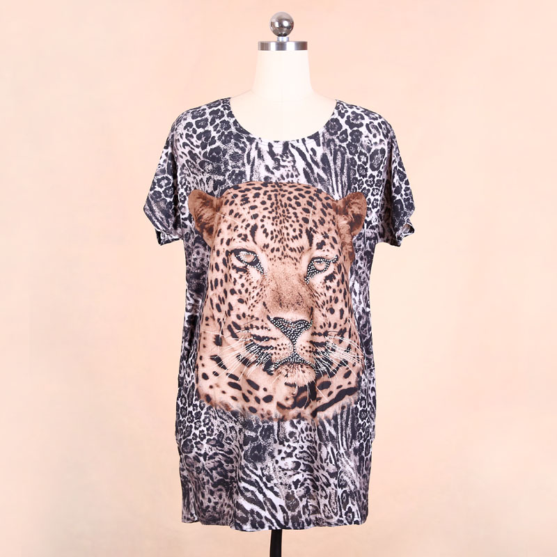 Factory wholesale two sides print plus size bead shirt for Wildlife t shirts wholesale