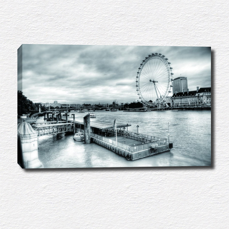 Black and white style scenery painting canvas print wall art picture for home decorations(China (Mainland))