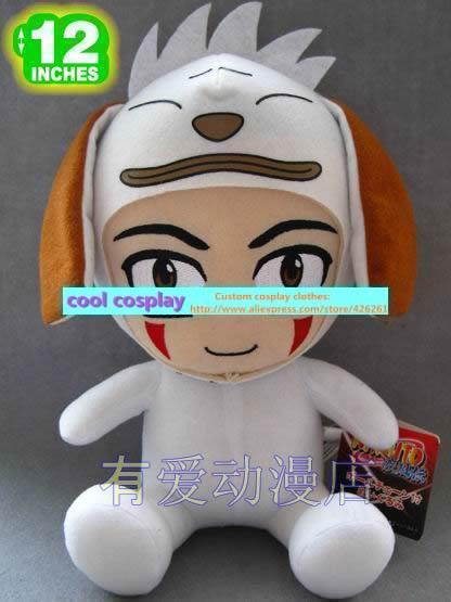 naruto Inutsuka Kiba Akamaru Dog flag pill plush doll dolls muppets cute toy gift(China (Mainland))
