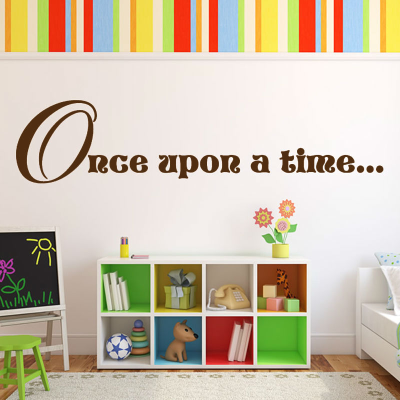 dctop once upon a time story quote wall sticker baby room
