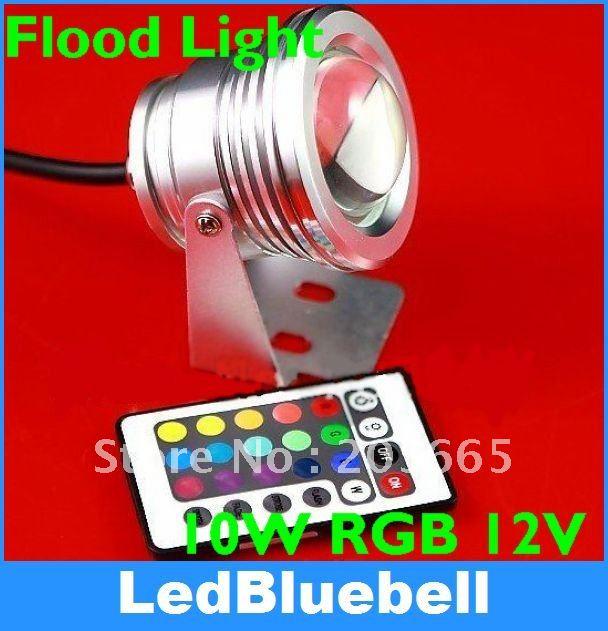RGB Projection Flood Wash Light LED Floodlight Outdoor Color Change 12V 10W<br><br>Aliexpress