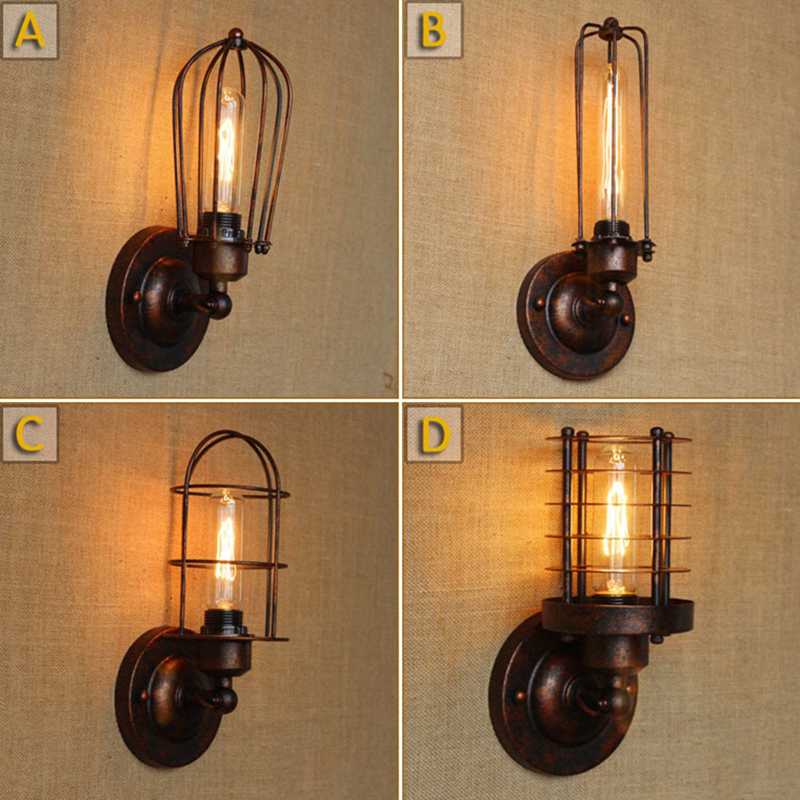 Vintage Bedside Wall Lamps : Vintage Wall Lamps American Industrial Warehouse Wall Scone Lamp For Cafe Club Bar Bedside Wall ...