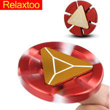 Buy Latest Hero Metal Fidget Spinner Hand Relieve Stress Iron Man Finger Spinner Spider Man Puzzle Tri-spinner Adult Kid Relax Toy for $2.87 in AliExpress store