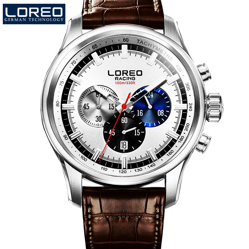 LOREO Germany watches men luxury brand genuine military watch sports watch multifunction quartz watch mens relogio masculino<br><br>Aliexpress
