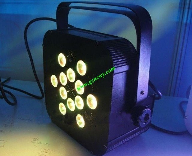 New high brightness 12 pcs*4in1 LED flat slim par can dj light