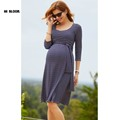 Fashion Knee Length Maternity Dress Sashes Elegant Evening Gown for Pregnant Women Office Lady Vestidos Maternity
