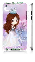 Mobile Phone Case Cover for ipod touch 4 4th Cute Cartoon Wedding Dress Young Girl White Hard Cases free shipping(China (Mainland))