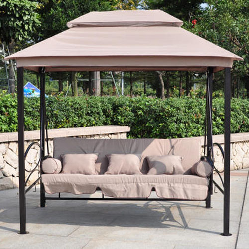 new double outdoor garden swing tent swing bed balcony. Black Bedroom Furniture Sets. Home Design Ideas