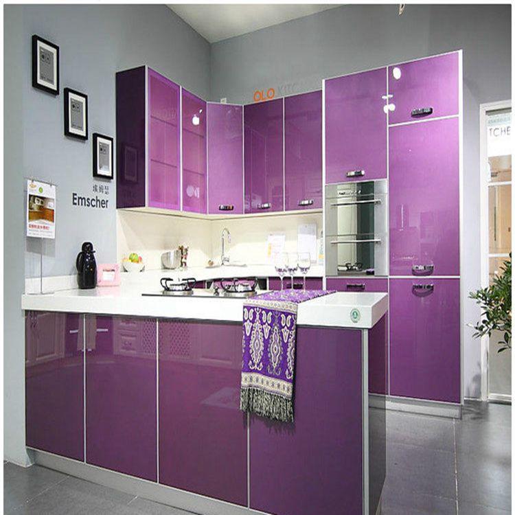 for Purple kitchen wallpaper