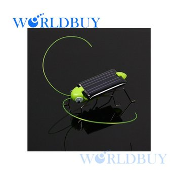 High Quality Solar Power Robot Insect Bug Locust Grasshopper Toy kid Free Shipping UPS DHL HKPAM CPAM