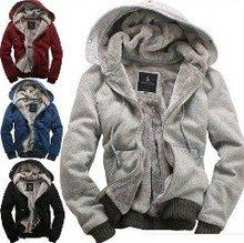 """SUPER HOT SALE "" NO PROFIT 2012 new men's plush thick warm overcoat winter coat fleece & cotton padded Jacket Men jackets(China (Mainland))"