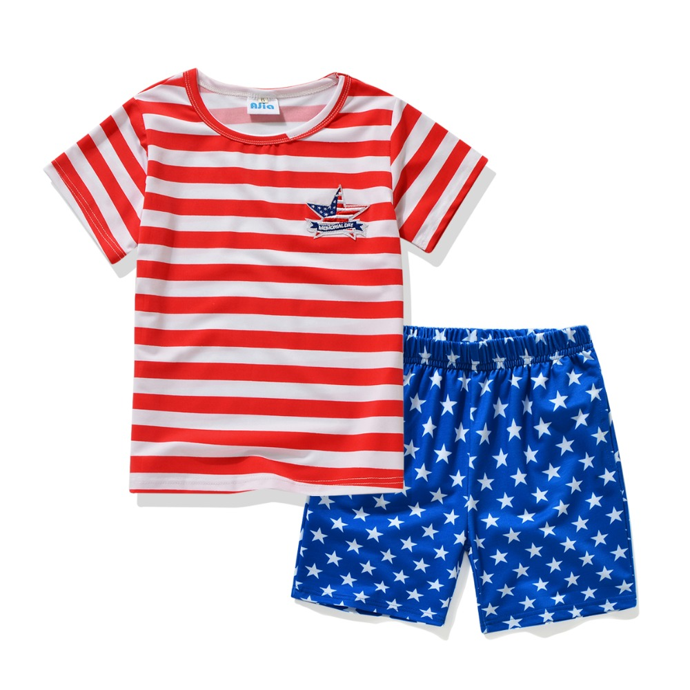@Ajia 2 Colors Kids Summer clothing set Boys Casual T-shirt and Shorts suit boys fashion Outfit clothes boys summer clothes suit(China (Mainland))