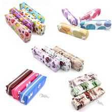 Office Stationery Pencil Case Wholesale China Colorful Fruits Rose Cars Polka Dots Printed Pencil Bag Pen Pencil Case