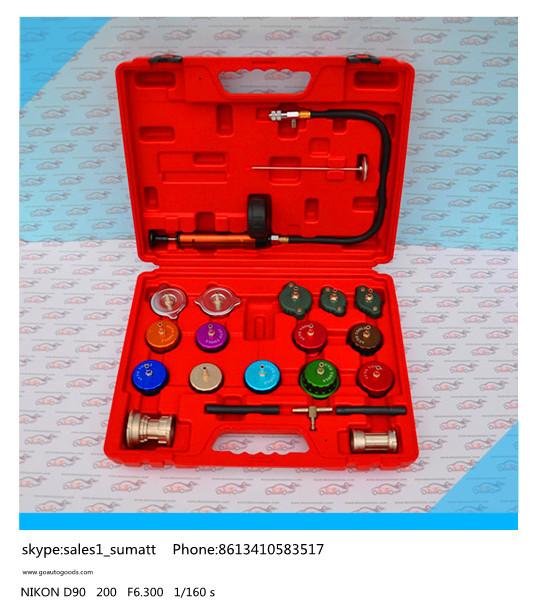 Фотография auto cooling system  Water Tank leak detector auto Radiator Water Pressure Tester 14kits