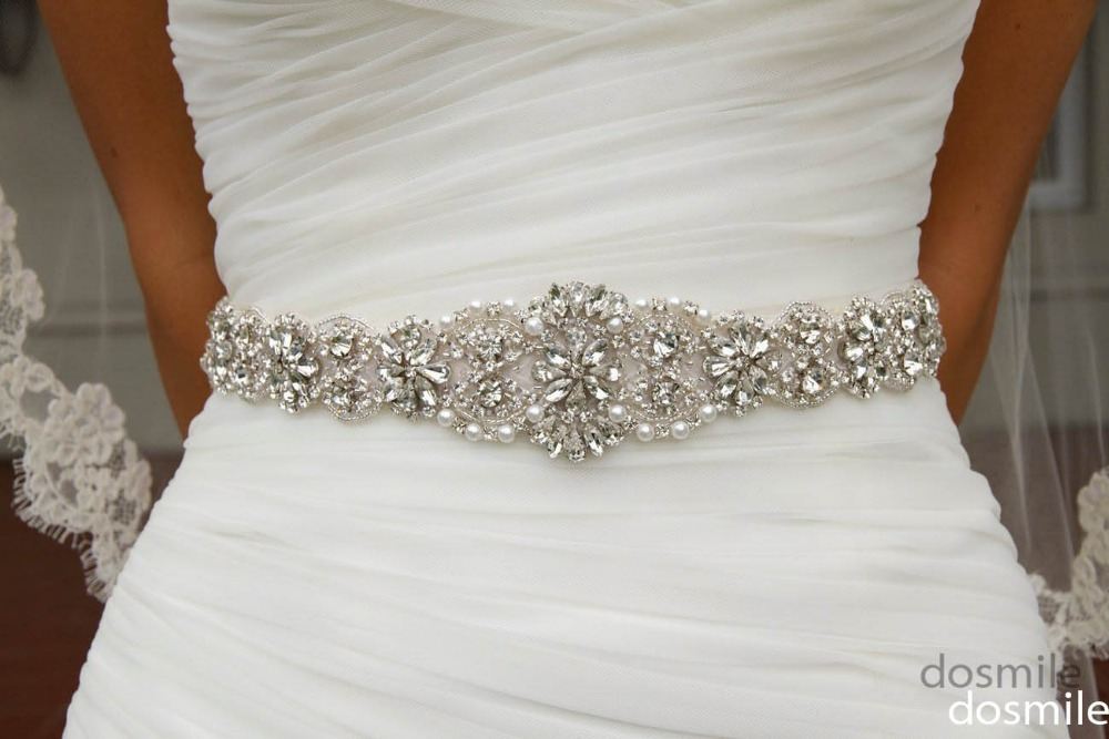 2016 crystal sashes for wedding bridal rhinestone belt for Wedding dress belt sash