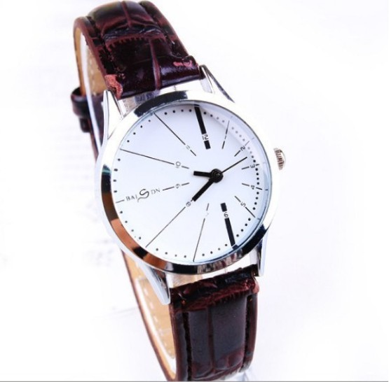 1PC New Fashion Brand Designer White/Black Leather Belt Watch Men Women Ladies Young Girls Analog Quartz Dress Wrist Watches - China Factory Store store