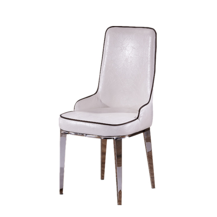Stainless steel factory direct hotel conference chairs home living room leather casual restaurant cafe chair(China (Mainland))