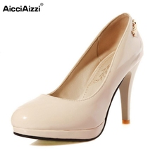 Buy Size 33-45 Fashion Womens Shoes Ladies Stiletto High Heels Office Dress Work Court Platform Women Pumps Zapatos Mujer for $19.86 in AliExpress store
