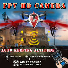 FPV Wltoys Q212 6Axis Gyro RC Quadcopter Drone 5.8G Real Time HD Camera +Monitor Using Air Pressure Set high Hovering Steadily