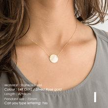 Женское ожерелье, ожерелье из нержавеющей стали с буквами «сделай сам», золотая цепочка-чокер, ожерелье для женщин, персонализированное юве...(China)