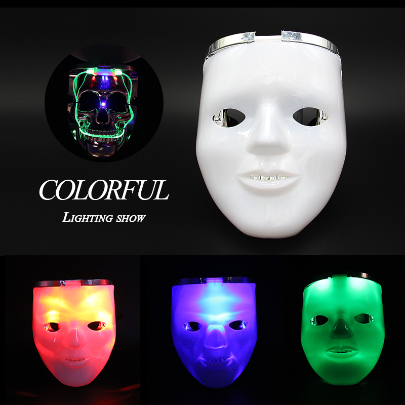 Fashion New Style Horror Halloween Toys Mask Flashing Costume Funny Skull Masks Toy Gifts For kids And Grownup Free Shipping!!!(China (Mainland))