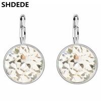 SHDEDE New Fashion Bijouterie Crystal from Swarovski Elements White Gold Plated Dangle Drop Earrings Jewelry Earrings For Women