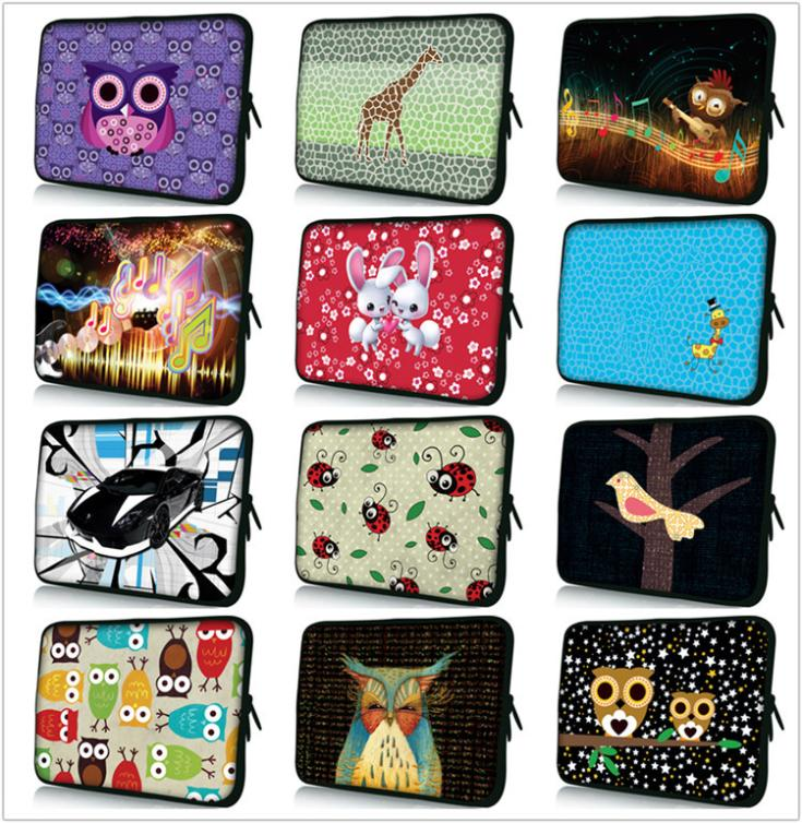boutique 10 inch laptop bag printing Print neoprene computer bag PC Cover Netbook Sleeve For 10.1 10.2 10.6 inch(China (Mainland))