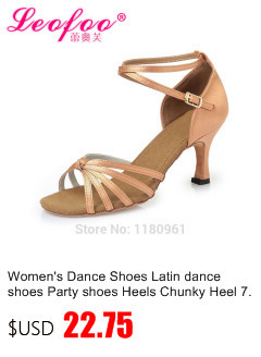 Women's Dance Shoes Latin dance shoes Party shoes Heels Chunky 6.5cm silver PU gold film leat satin Factory direct sale  CL40