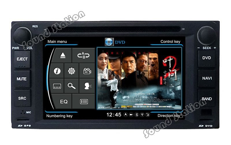 S100 Car GPS DVD Head Unit Sat Nav for Toyota 4Runner/SW4/Hilux Surf 2003-2009 with Wifi /3G Host TV Radio Stereo Player 1G CPU(China (Mainland))