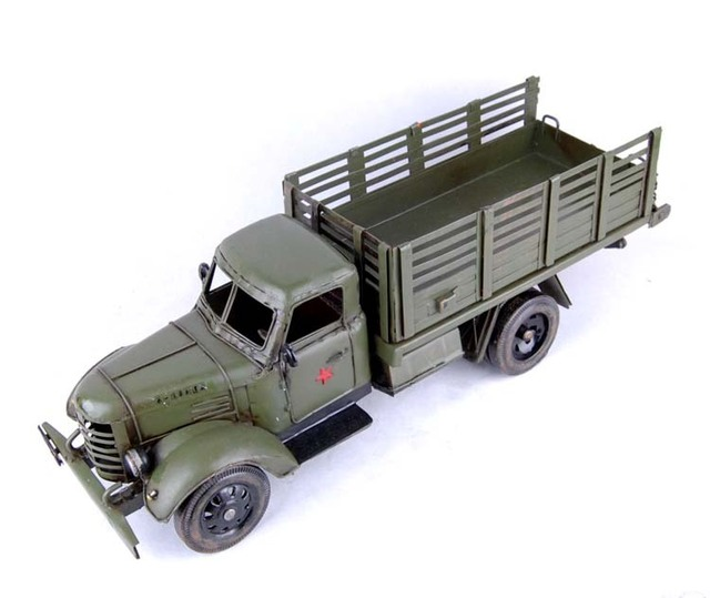 Large truck model modern home decoration bar decoration vintage art crafts