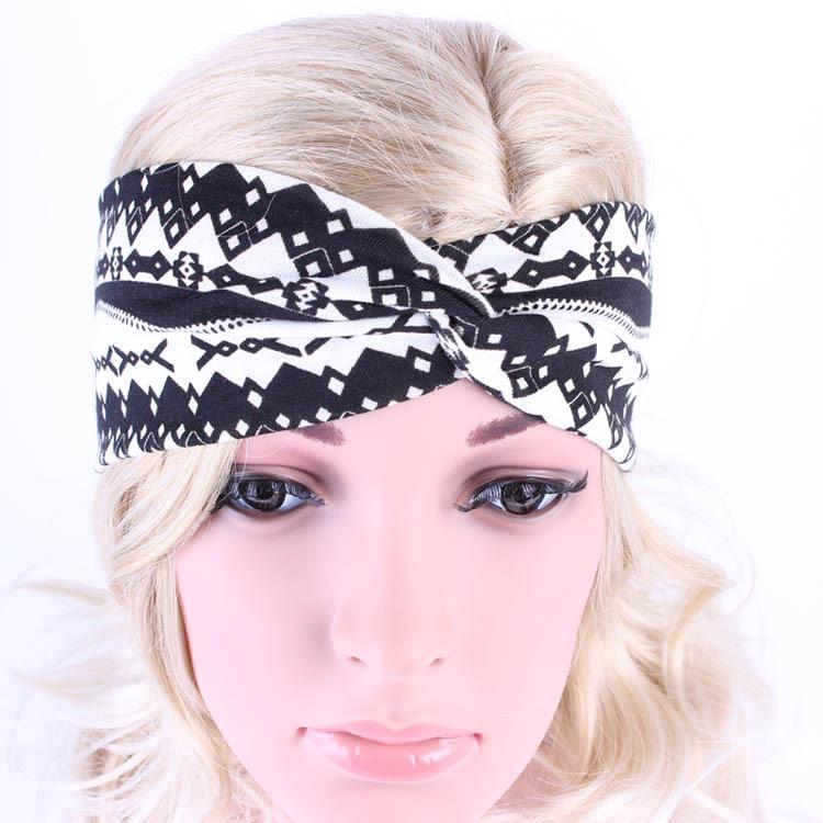 2016 Hot Style Printed Bohemian Headbands Running Yoga Hair Band Fashion Women Knot Headwrap