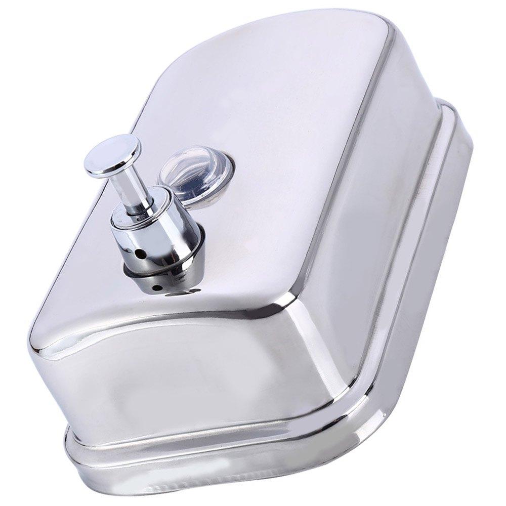500ml Liquid Soap Dispenser Wall Mounted Shower Bath Stainless Steel Soap Dispenser Shampoo Box for Bathroom Kitchen Sink(China (Mainland))