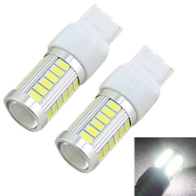 2pcs Car led T20 W21W 7440 WY21W Cree 33 LED 5630 5730 SMD car Backup Reserve Lights auto brake light fog lamps 12V red yellow(China (Mainland))