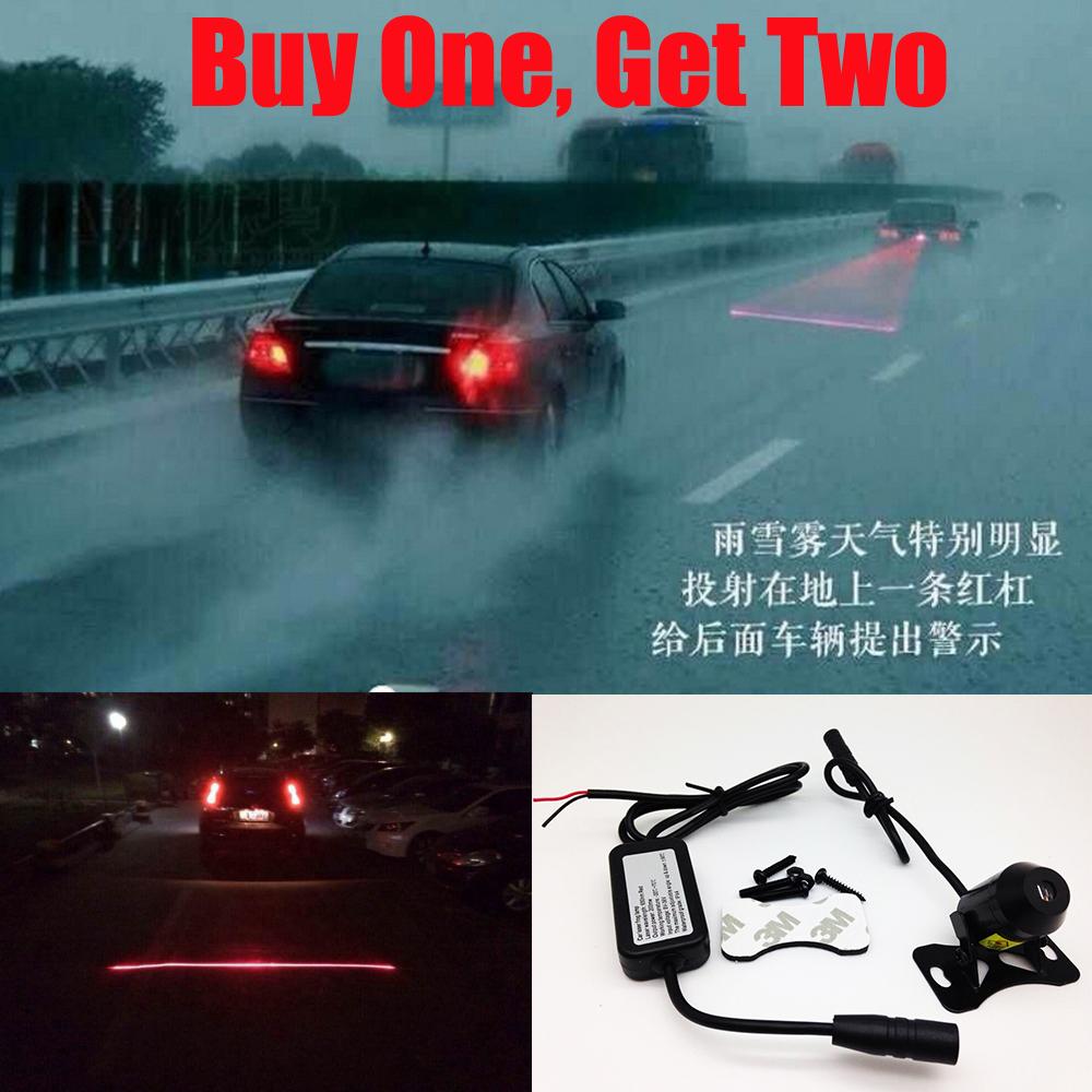 Anti Collision Rear-end Car Laser Tail Fog Light Auto Brake Parking Lamp Rearing Warning 12/24V Waterproof - Offroad Anythings store