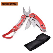 Henstrong Combination Plier Multi Functional Tool Screwdriver Bottle Opener Hand Tools Red+Sliver