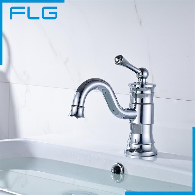 Hot Selling, Free Shipping Basin Faucet, Bathroom Faucet, Basin Mixer, Basin Tap, Chrome Faucet Torneira FLG8824C(China (Mainland))
