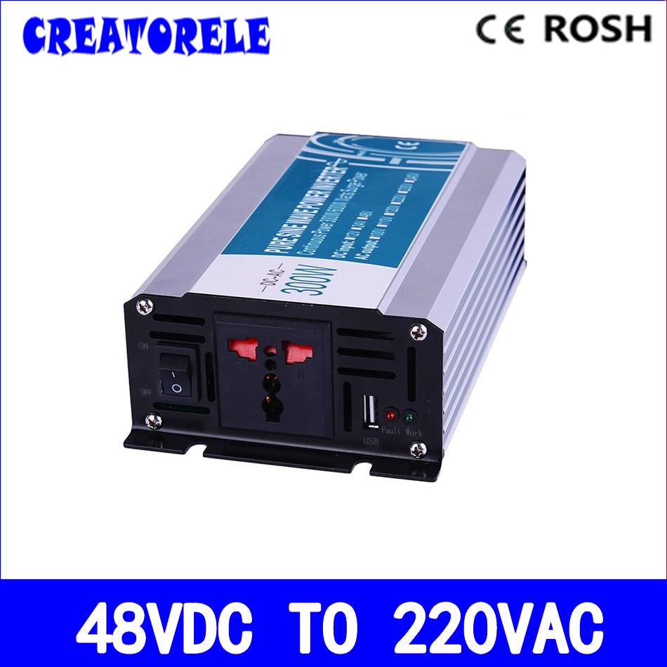 pure sine wave off grid solar inverter 300w inversor 48v to 220v voltage converter solar inverter P300-482(China (Mainland))